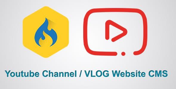 Youtube Channel / Vlog Website CMS
