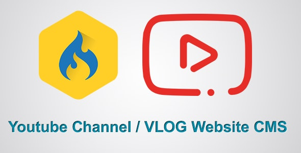 Youtube Channel / Vlog Website CMS - CodeCanyon Item for Sale