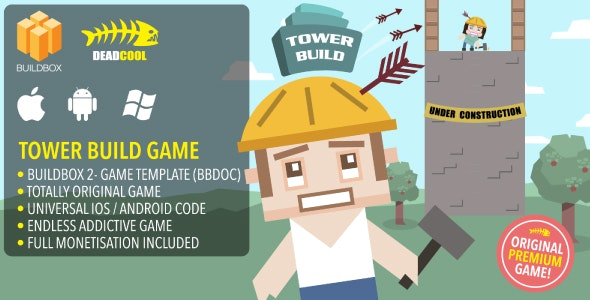 Tower Build - BuildBox 2 Game Template Document - iOS