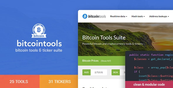 Bitcoin Tools Suite - 50+ Features - CodeCanyon Item for Sale
