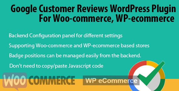 Google Customer Reviews for Woo-commerce - CodeCanyon Item for Sale
