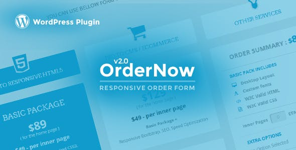 OrderNow - Responsive Order Form WordPress Plugin