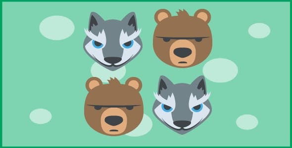 jungle animals - tic tac toe - html5 game