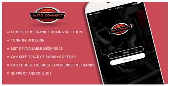 Book Your Mobile Auto Mechanics or Technicians - Auto Connect App - CodeCanyon Item for Sale