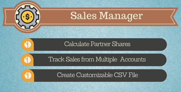 Sales Manager - Track your Sales on Envato