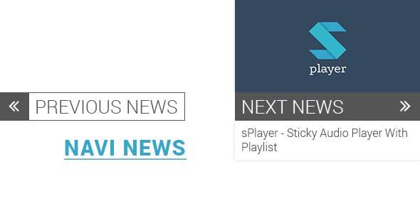 Navi News (Previous/Next Post for Wordpress)