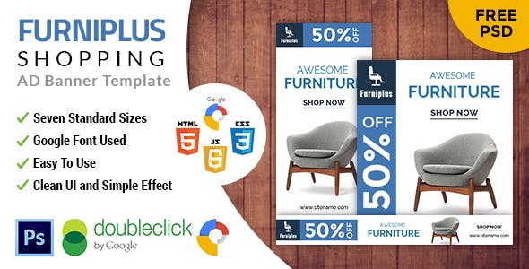 Furniplus | Furniture HTML 5 Animated Google Banner
