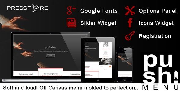 Push Menu - Flexible Off Canvas menu