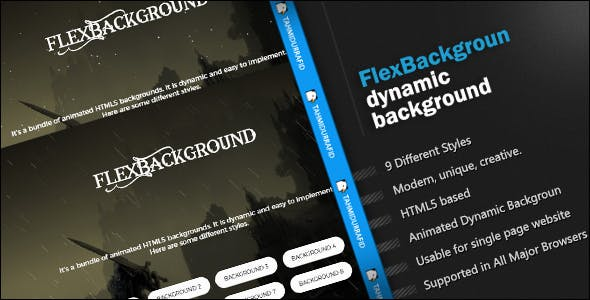 FlexBackgroud - HTML5 Animated Backgrounds