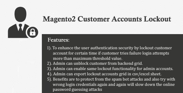 Magento2 Customer Accounts Lockout