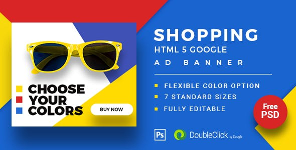 Shopping - HTML5 Animated Banner 20 Advance