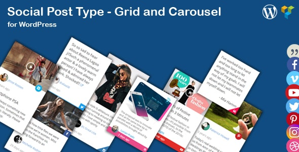 Social News Post Type - Grid and Carousel for WordPress - CodeCanyon Item for Sale
