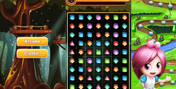 Jewels blast Match 3 Complete Unity Project - CodeCanyon Item for Sale