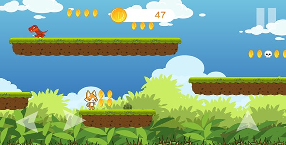 Cat Adventure - iOS Platformer Game with Admob - CodeCanyon Item for Sale