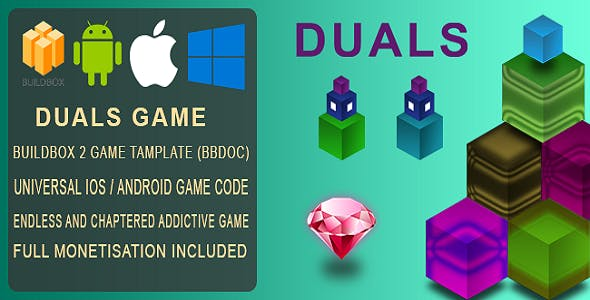 Duals BuildBox 2 Game Template Document – iOS / Android / BBDOC