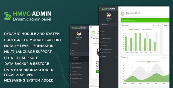 HMVC - Dynamic Admin Panel