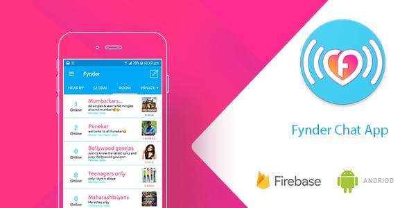 Fynder - Find, Chat,Meet - Realtime Chat Application with Firebase, Dating App