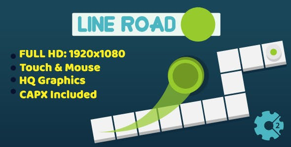 Line Road - HTML5 Game (Construct2)