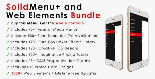 SolidMenu+ | Responsive Mega Menus + Web Elements Bundle