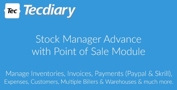 Stock Manager Advance with Point of Sale Module - CodeCanyon Item for Sale