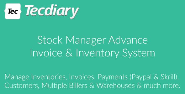 Stock Manager Advance (Invoice & Inventory System)