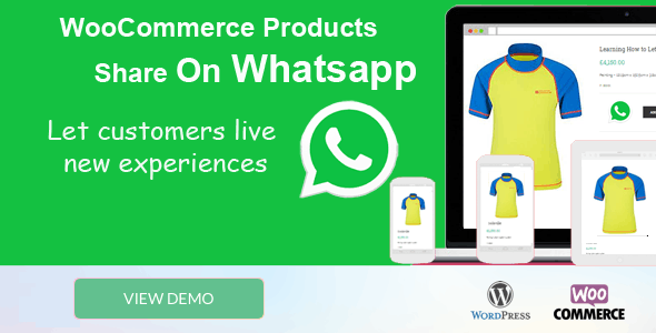 Woocommerce Products Share On Whatsapp
