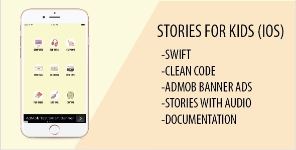 Stories for Kids - iOS Swift Xcode App with Admob by aultoon