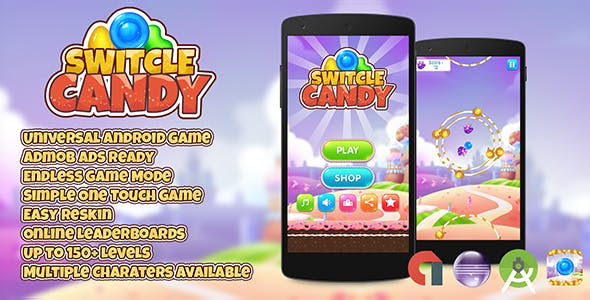 Switcle Candy + Admob (Android Studio + Eclipse) Easy Reskin
