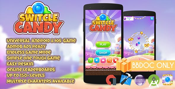 Switcle Candy + Admob BBDOC Only (Buildbox 2.2.8)