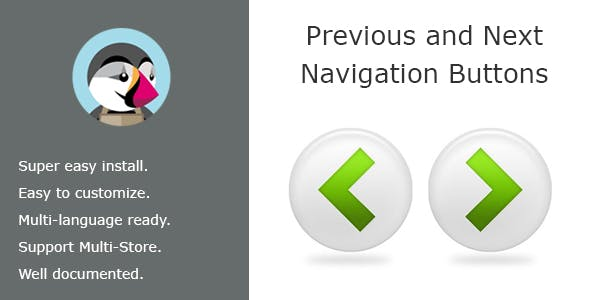 Navigation Previous & Next Buttons On Product Page