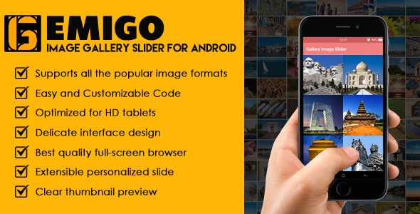 Emigo Image Gallery Slider For Android - CodeCanyon Item for Sale