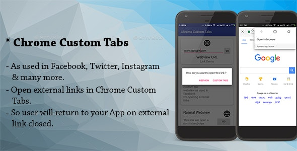 Chrome Custom Tabs WebView - ( As used in Facebook, Twitter