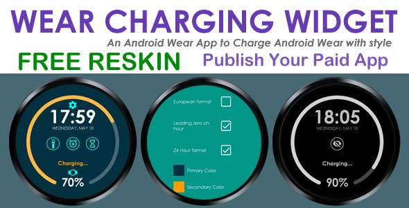 Wear Charging Widget - Android Wear - Free/Paid App