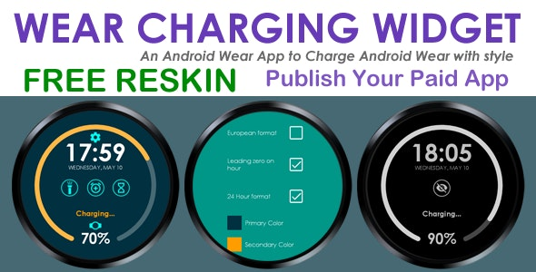 Wear Charging Widget - Android Wear - Free/Paid App - CodeCanyon Item for Sale