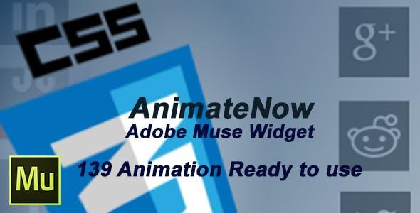 AnimateNow Adobe muse grateful widget