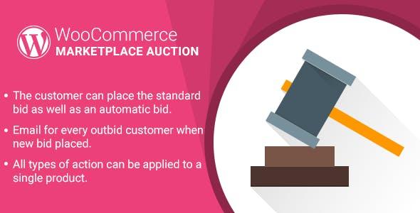 WordPress WooCommerce Marketplace Auction Plugin