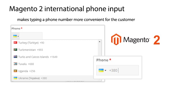 Magento 2 international phone input - CodeCanyon Item for Sale