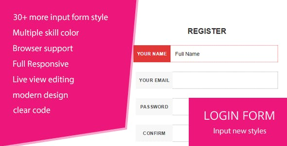 Login Form & Input Styles