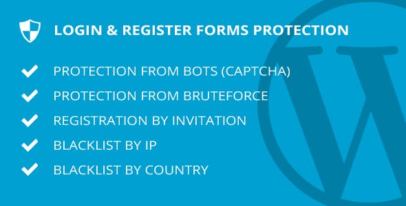Login & Register forms protection - WordPress plugin