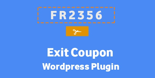 Exit Coupon - Wordpress Plugin - CodeCanyon Item for Sale