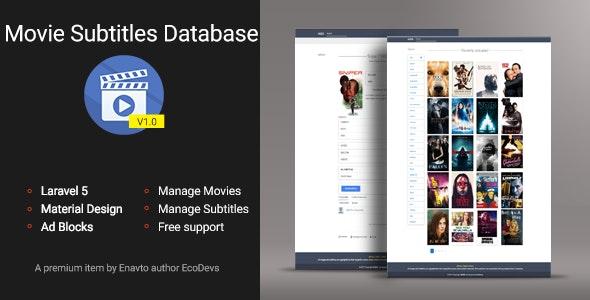 MSDB - Movie Subtitles Database - CodeCanyon Item for Sale