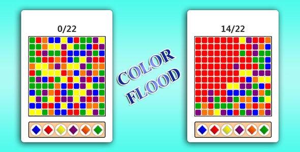 Color flood HTML 5 game