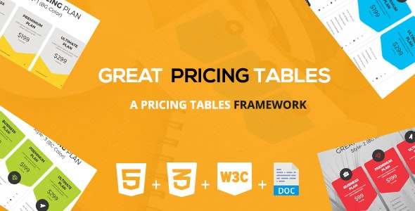 Great Pricing Tables Framework - CodeCanyon Item for Sale