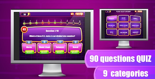 The Quiz Game - HTML5 & Capx - CodeCanyon Item for Sale