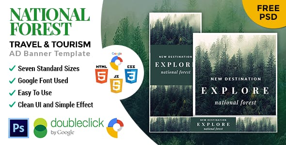 National Forest | Travel HTML 5 Google Banner