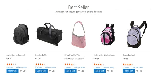 Magento 2 BestSeller Products