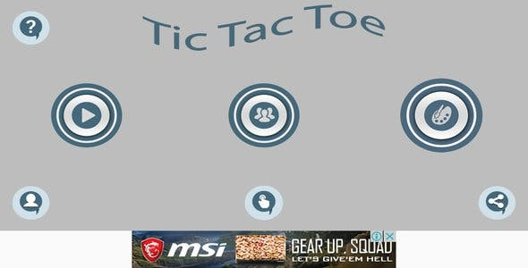 Tic-Tac-Toe With ADMOB