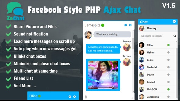 Facebook Style Php Ajax Chat - Zechat - CodeCanyon Item for Sale