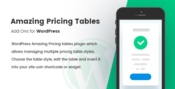 Amazing Pricing Tables - CodeCanyon Item for Sale
