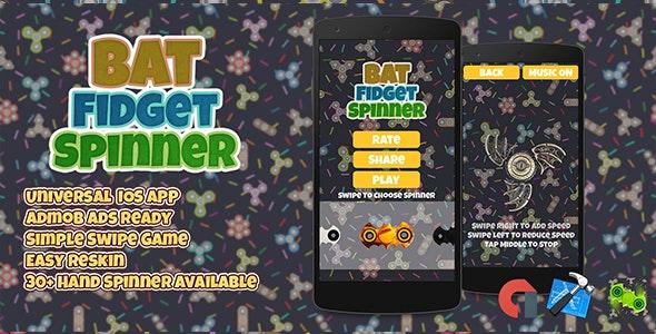 Bat Fidget Spinner + Admob IOS XCODE Easy Reskin - CodeCanyon Item for Sale